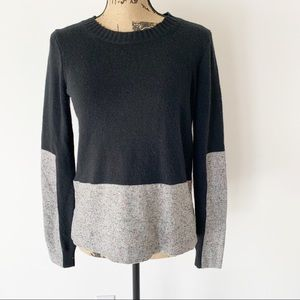 J Crew with Cashmere Sweater | Gray and Black XS